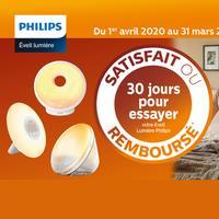 Offre d'Essai Philips : Appareil de Luminothérapie Satisfait ou 100% Remboursé