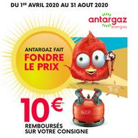 Offre de Remboursement Antargaz : 10€ Remboursés sur Consigne elfi butane