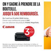 Offre de Remboursement Canon : Jusqu'à 50€ Remboursés sur Imprimante PIXMA MegaTank