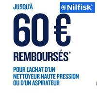 Offre de Remboursement Nilfisk : Jusqu'à 60€ Remboursés sur Nettoyeur Haute Pression ou Aspirateur