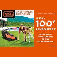 Offre de Remboursement Black + Decker : Jusqu'à 100€ Remboursés sur Tondeuse ou un Coupe-bordures