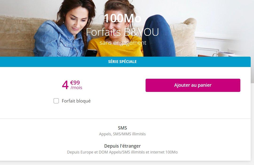 4,99€ / mois le forfait mobile Bandyou Illimités en appels et sms mms