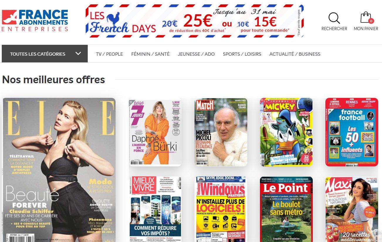 Kiosque FAE ( France Abonnement ) : 25€ de réduction sur les abonnements
