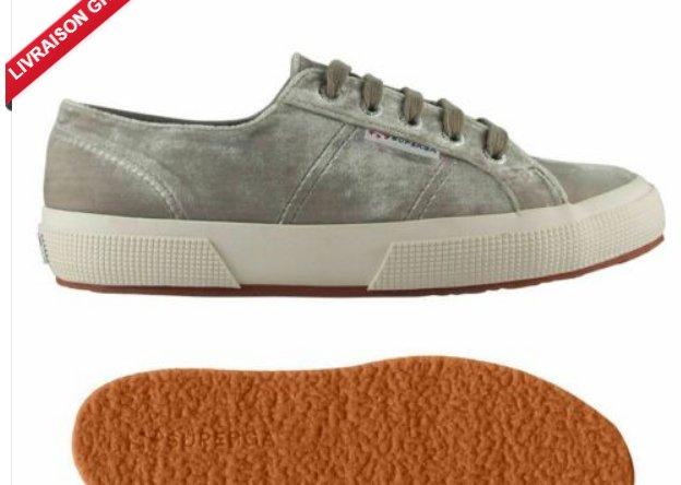 14,99€ les chaussures SUPERGA VELVETCHENILLEW  pour femmes