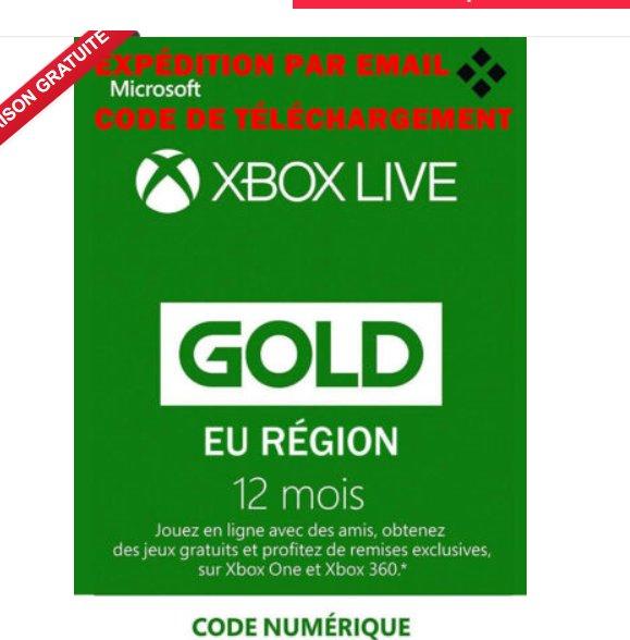 42,8 € l'abonnement XBOX LIVE GOLD pour un an