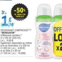 Déodorant Monsavon chez Leclerc (02/06 – 13/06)