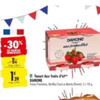 Yaourt aux fruits d'ici Danone chez Carrefour (02/06 – 15/06)