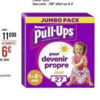 Culottes Pull-Ups Huggies chez Géant Casino (01/06 – 14/06)