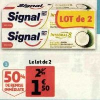 Dentifrice Signal Integral 8 chez Auchan (26/05 – 09/06)