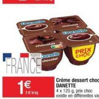 Crème Danette chez Cora (26/05 – 01/06)