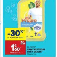 Spray nettoyant Mr Propre chez Aldi (26/05 – 01/06)