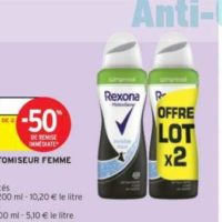 Déodorant Rexona chez Intermarché (26/05 – 07/06)