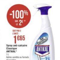 Spray nettoyant Antikal chez Casino (01/06 – 14/06)