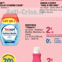 Dentifrice Teraxyl chez Leclerc (26/05 – 06/06)