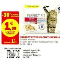 Sachets pour chats Perfect Fit chez Magasins U (03/06 – 13/06)