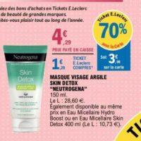 Masque Skin Detox Neutrogena chez Leclerc (26/05 – 06/06)