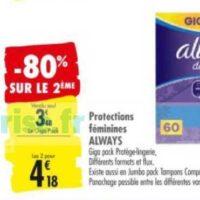 Tampons Compak Tampax chez Carrefour (02/06 – 15/06)