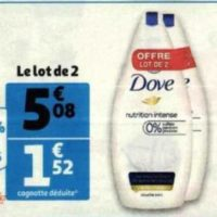 Gel Douche Dove chez Auchan (26/05 – 09/06)