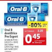 Dentifrice Oral-B chez Lidl (03/06 – 09/06)