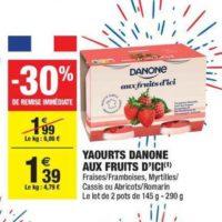 Yaourt aux fruits d'ici Danone chez Carrefour Market (02/06 – 14/06)