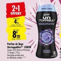 Parfum de linge Lenor Unstoppables chez Carrefour (25/05 – 08/06)