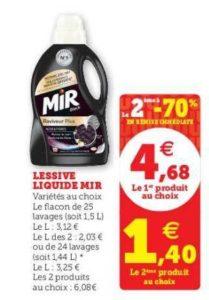 Lessive liquide Mir chez Magasins U (12/05 – 23/05)