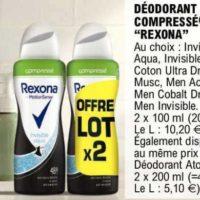 Déodorant Rexona chez Leclerc (26/05 – 06/06)