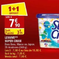 Lessive en capsules Super Croix chez Atac (27/05 – 01/06)