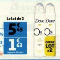 Déodorant 0% Dove chez Auchan (26/05 – 09/06)
