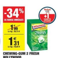 Chewing-gum Hollywood 2 Fresh chez Carrefour Market (02/06 – 14/06)