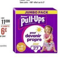 Culottes Pull-Ups Huggies chez Casino (01/06 – 14/06)