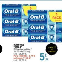 Dentifrice Pro-expert Oral-B chez Leclerc (26/05 – 06/06)