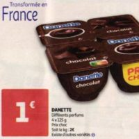 Crème Danette chez Auchan (26/05 – 02/06)