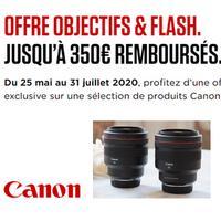 Offre de Remboursement Canon : Jusqu'à 350€ Remboursés sur Objectifs et Flash