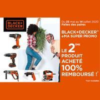 Offre de Remboursement Black + Decker : 2ème produit 100% Remboursé