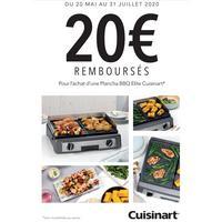 Offre de Remboursement Cuisinart : 20€ Remboursés sur Plancha BBQ Elite