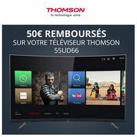Offre de Remboursement Thomson : 50€ sur Téléviseur 55UD66