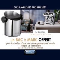 Bon Plan DéLonghi : 1 Machine La Specialista Achetée = 1 Bac à Marc Offert