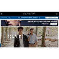 Homme Privé :  ventes privées d'articles pour hommes (mode , high tech …)