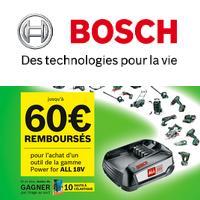 Offre de Remboursement Bosch : Jusqu'à 60€ Remboursés sur Outil All 18V