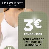 Offre de Remboursement Le Bourget : 3€ Remboursés sur 2 produits Bio