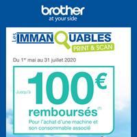 Offre de Remboursement Brother : Jusqu'à 100€ Remboursés sur Imprimante