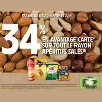 Intermarché : 34% de remise Fidélité sur Apéritifs Salés (06/06 – 07/06)