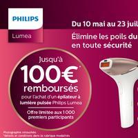 Offre de Remboursement Philips : Jusqu'à 100€ Remboursés sur Epilateur Lumea
