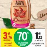 Shampooing ou Après-Shampooing Ultra Doux Garnier chez Intermarché (26/05 – 07/06)