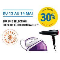 Leclerc : 30% en Tickets Leclerc sur le Petit Electroménager (13/05 – 14/05)