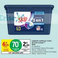 Lessive en Capsules 3en1 Skip chez Intermarché (26/05 – 07/06)