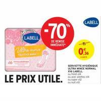 Serviettes Hygiéniques Labell chez Intermarché (26/05 – 07/06)