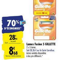 Lames de Rasoir Gillette chez Carrefour (25/05 – 08/06)