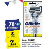 Rasoir Gillette chez Carrefour (25/05 – 08/06)